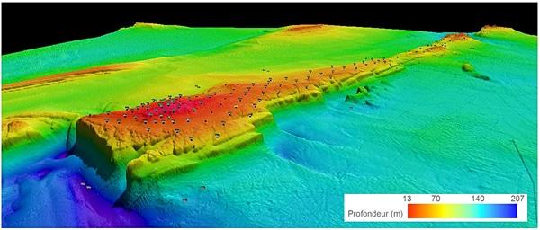<strong>Une nouvelle aire marine protégée : le Banc-des-Américains !</strong> <br>Créditphoto: Représentation (2012) en trois dimensions du Banc-des-Américains. Crédit photo : Pêches et Océans Canada